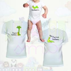 Camisetas familia babosa