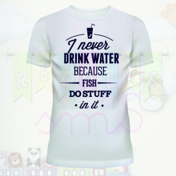 Camiseta yo no bebo agua