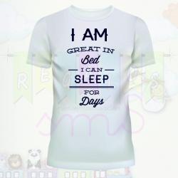 Camiseta soy genial en la cama