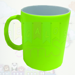 Taza color fluor amarilla