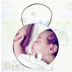 Placa para puerta bebé